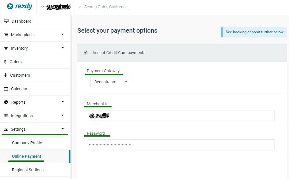 Set Up Payment Gateway Beanstream Rezdy Help Center
